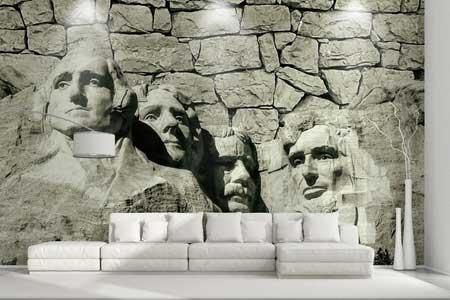 طرح کاغذ دیواری سه بعدی چهره 019
